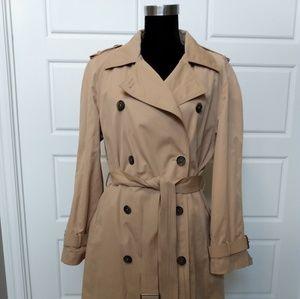 Anne Klein Beige Trenchcoat Size 14